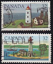 Buy KANADA CANADA [1984] MiNr 0929,30 ( O/used ) Leuchttürme