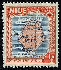 Buy Niue #94 Map of Niue; Unused (0.25) (2Stars)  NIU0094-03XRS