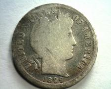 Buy 1899 BARBER DIME TONED GOOD G NICE ORIGINAL COIN FROM BOBS COINS FAST SHIPMENT