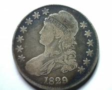 Buy 1829 BUST HALF DOLLAR O.107 R-4 VERY FINE VF NICE ORIGINAL COIN FROM BOBS COINS