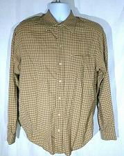 Buy Caribbean Joe Men's Button Down Shirt Medium Button Down Geometric Long Sleeve