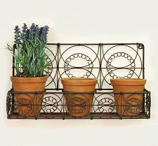 Buy Outdoor Indoor Hanging Wire Wall Basket Planters Flowers Herbs Garden Patio New