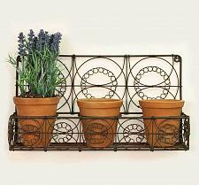 Buy Outdoor Indoor Hanging Wire Wall Basket Planters Flowers Herbs Garden Patio New