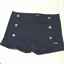Buy PINTO Mini shorts women front buttons Navy Women Size 2 NWOT