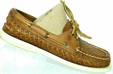 Buy Sperry Top Sider Womens Brown Leather Woven Lace Up Boat Deck Shoes 5.5 M