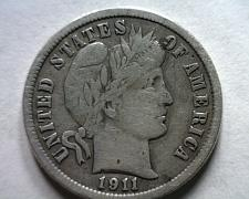 Buy 1911 BARBER DIME VERY FINE+ VF+ NICE ORIGINAL COIN FROM BOBS COINS FAST SHIPMENT