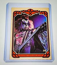 Buy VINTAGE KISS LIVE GENE SIMMONS 1978 AUCOIN ROCK MUSIC COLLECTORS CARD #26 GD/VG