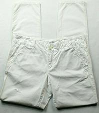 Buy Ann Taylor Loft Womens Boyfriend Casual Pants Size 4 Solid White Distressed