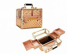 Buy New Travel Train Case Aluminum Makeup Cosmetic Beauty Organizer Storage Lockable