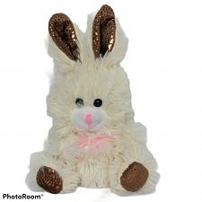 Buy Greenbriar Easter Bunny Rabbit Cream Spring Bow Plush Stuffed Animal 8.25""