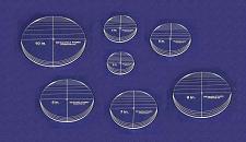 "Buy 7 Piece Circle Set - No Seam 4"" - 10"" ~ 1/4"" Thick - Long Arm -Multi Use"