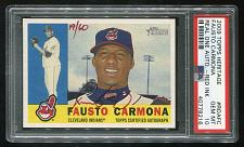 Buy 2009 TOPPS HERITAGE REAL ONE RED AUTO FAUSTO CARMONA PSA 10 GEM MINT (40778216)