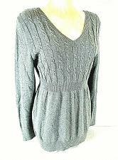 Buy LIZ LANGE womens Large L/S gray MATERNITY sweater (B4)