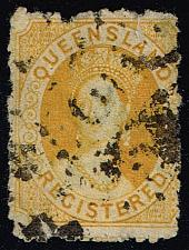 Buy Australia-Queensland #F3 Queen Victoria; Used (50.00) (1Stars) |QUEF3-02