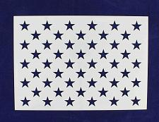 "Buy 50 Star Field Stencil 14 Mil -US G Spec 10.5 x 14.82"" Long Star Field- Painting"
