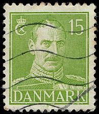 Buy Denmark #281 King Christian X; Used (3Stars) |DEN0281-03XRS