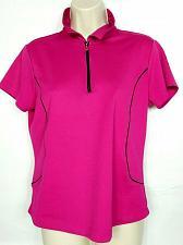 Buy EP Tour Pro Tech Women's Golf Top Medium Solid Pink 1/2 Zip Short Sleeve