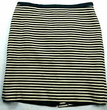 Buy Loft Womens A Line Skirt Size 12 Beige Blue Striped Line Back Zip