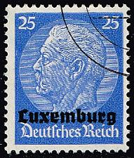 Buy Luxembourg #N10 Hindenburg - German Occupation; Used (3Stars) |LUXN10-01XRP