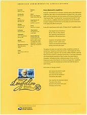 Buy US #SP1634 (4124) Henry Wadsworth Longfellow Souvenir Page (4Stars) |USASP1634-01