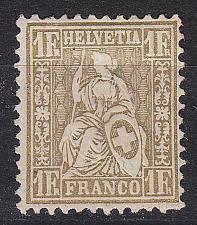 Buy SCHWEIZ SWITZERLAND [1881] MiNr 0044 ( oG/no gum )