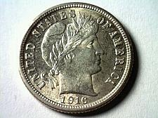 Buy 1916 BARBER DIME CHOICE UNCIRCULATED CH. UNC. NICE ORIGINAL COIN FROM BOBS COINS