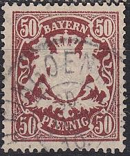 Buy GERMANY Bayern Bavaria [1890] MiNr 0063 x ( O/used )
