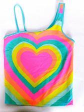 Buy Cat & Jack Girl's Tankini Swimsuit Top Size XL Pink Orange Yellow Blue Heart