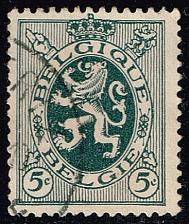 Buy Belgium #201 Heraldic Lion; Used (0.25) (2Stars) |BEL0201-09XRS