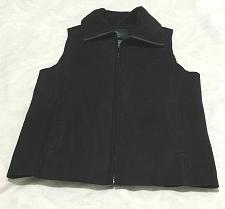 Buy Ralph Lauren Women Faux Soft Black Suede warm Zip Front Vest Size:S/P