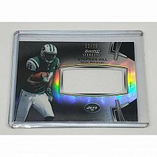 Buy NFL STEPHEN HILL JETS 2012 BOWMAN STERLING GAME-WORN PATCH REFRACTOR SP/75