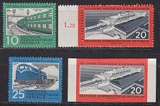 Buy GERMANY DDR [1960] MiNr 0804-06 ( **/mnh ) Eisenbahn