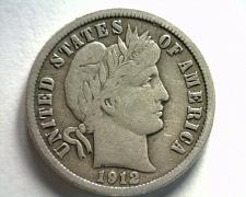 Buy 1912-D BARBER DIME VERY FINE VF NICE ORIGINAL COIN FROM BOBS COINS FAST SHIPMENT