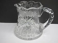 Buy Sinclaire Signed ABP cut glass squat pitcher hand cut