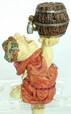 Buy Vtg Monk Drinking From Barrel Keg Wine Grapes Man Cave Wine Stopper 5.5""