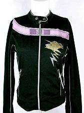 Buy Metta Femme Girl's Jacket Size L Dance Studio Sparkly Glittered Black Zip Up