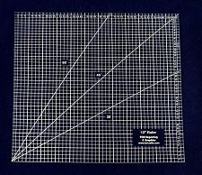 """Buy Square Ruler 12"""". - Clear Acrylic - Quilting/Sewing - Template 1/8"""""""