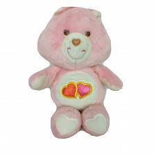 "Buy Vintage Care Bear Love A Lot Bear Hearts Pink Plush Stuffed Animal 1983 13"""
