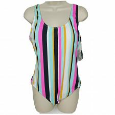 Buy NWT Hula Honey One Piece Swimsuit XL Multicolor Striped Padded