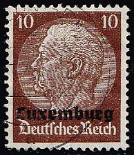 Buy Luxembourg #N6 Hindenburg - German Occupation; Used (4Stars) |LUXN06-01XRP