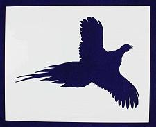 Buy Large Flying Pheasant Stencil -1 pc-Mylar 14mil - Painting /Crafts/ Templates