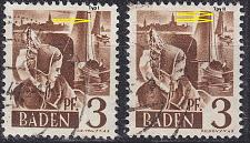 Buy GERMANY Alliiert Franz. Zone [Baden] MiNr 0002 yv I,II ( O/used ) [01]