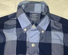 Buy J.Crew Plaid shirt front buttons /cotton / Blue Size X-Small /Light Weight