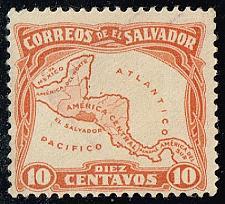 Buy El Salvador #500 Map of Central America; Used (2Stars) |ELS0500-05