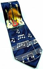 Buy Guitar Music Notes Musician Band Hobby Instrument Novelty Tie