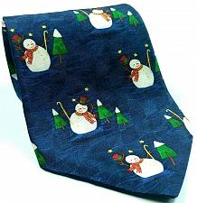 Buy Hallmark Holiday Traditions Snowman Christmas Trees Novelty Silk Necktie