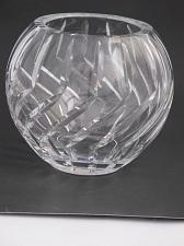 Buy Hand Cut Glass hand polished rose bowl / vase