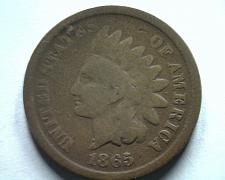 Buy 1865 FANCY 5 INDIAN CENT PENNY GOOD+ G+ NICE ORIGINAL COIN BOBS COINS FAST SHIP