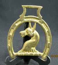 Buy Vintage Horse Brass Medallion Harness Horse Head surrounded by a Horseshoe