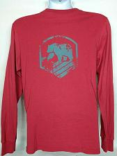 Buy The Normal Brand Mens T-Shirt Medium Bear Graphic Red Long Sleeve Chest Pocket